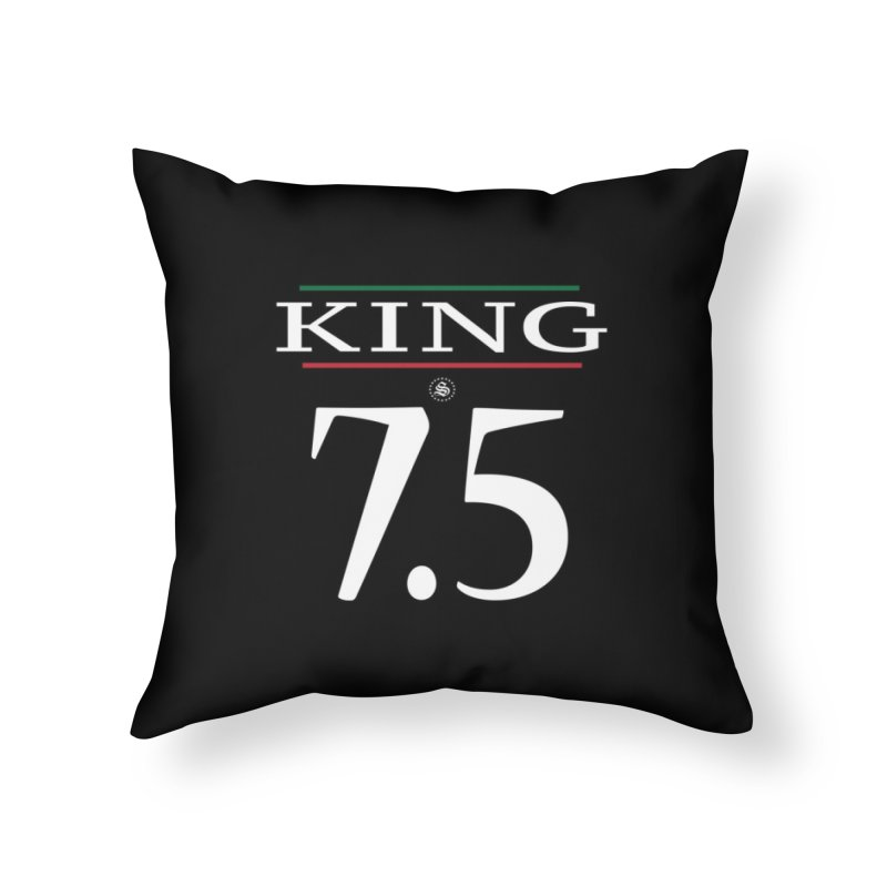 #7.5 Home Throw Pillow by summer seventy six