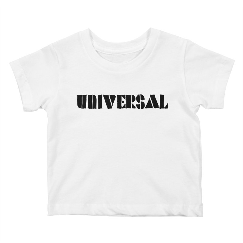 outchea blk Kids Baby T-Shirt by summer seventy six