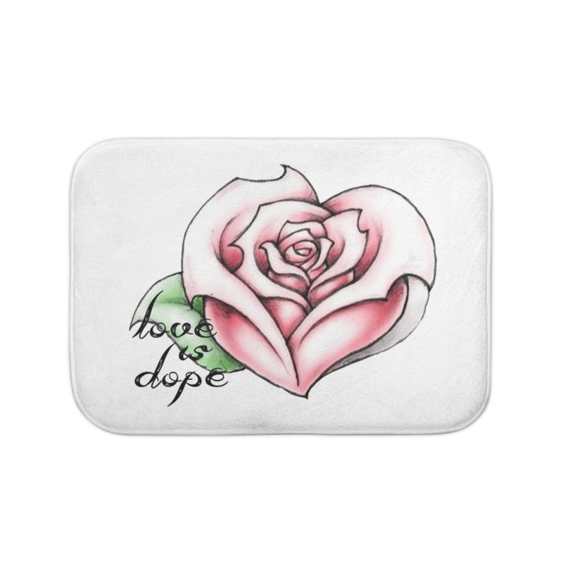 love is dope wht/red Home Bath Mat by summer seventy six