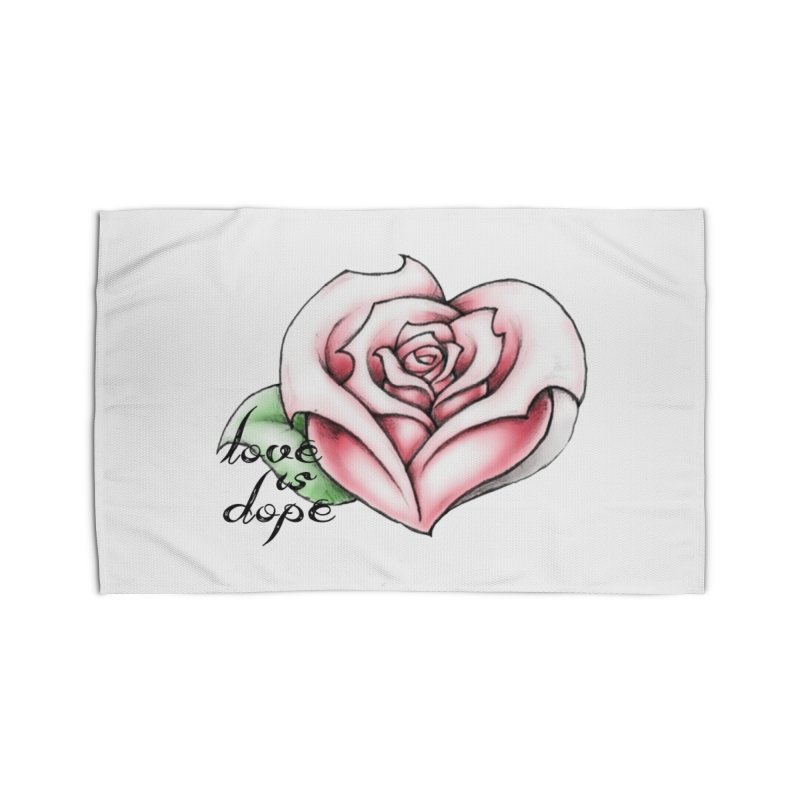 love is dope wht/red Home Rug by summer seventy six