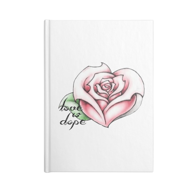 love is dope wht/red Accessories Blank Journal Notebook by summer seventy six