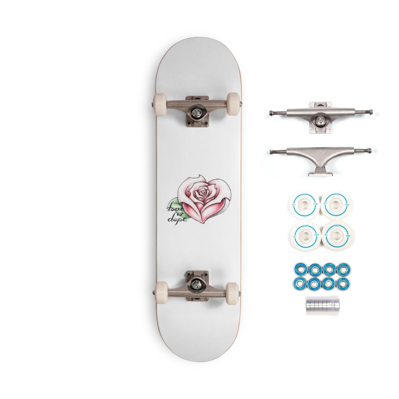 love is dope wht/red in Complete - Basic Skateboard by summer seventy six