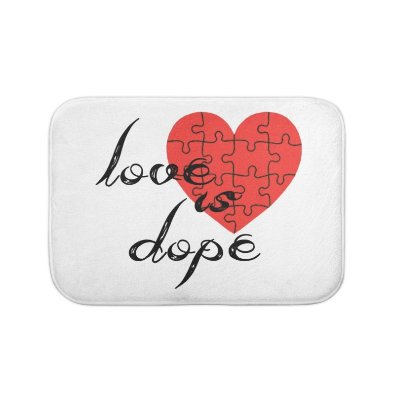 love is dope (wht/blk/red) Home Bath Mat by summer seventy six