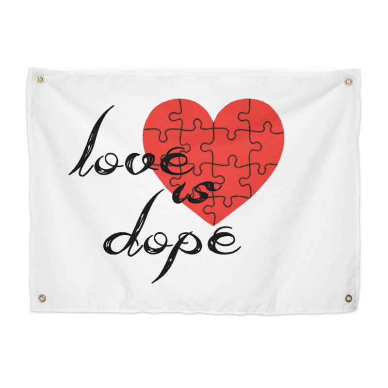 love is dope (wht/blk/red) Home Tapestry by summer seventy six