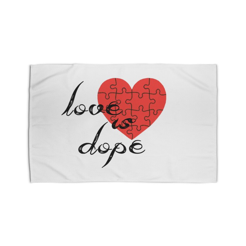 love is dope (wht/blk/red) Home Rug by summer seventy six