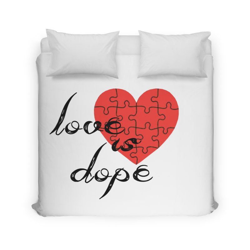 love is dope (wht/blk/red) Home Duvet by summer seventy six