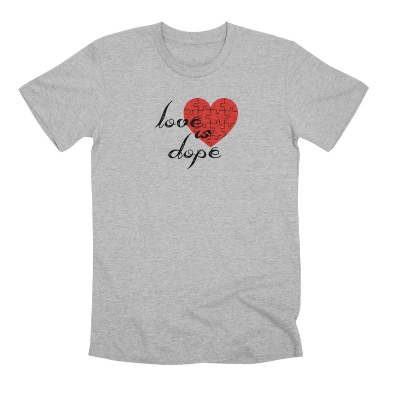 love is dope (wht/blk/red) Men's Premium T-Shirt by summer seventy six