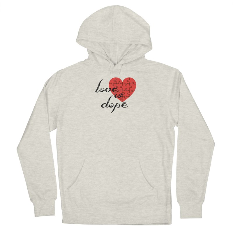 love is dope (wht/blk/red) Women's French Terry Pullover Hoody by summer seventy six