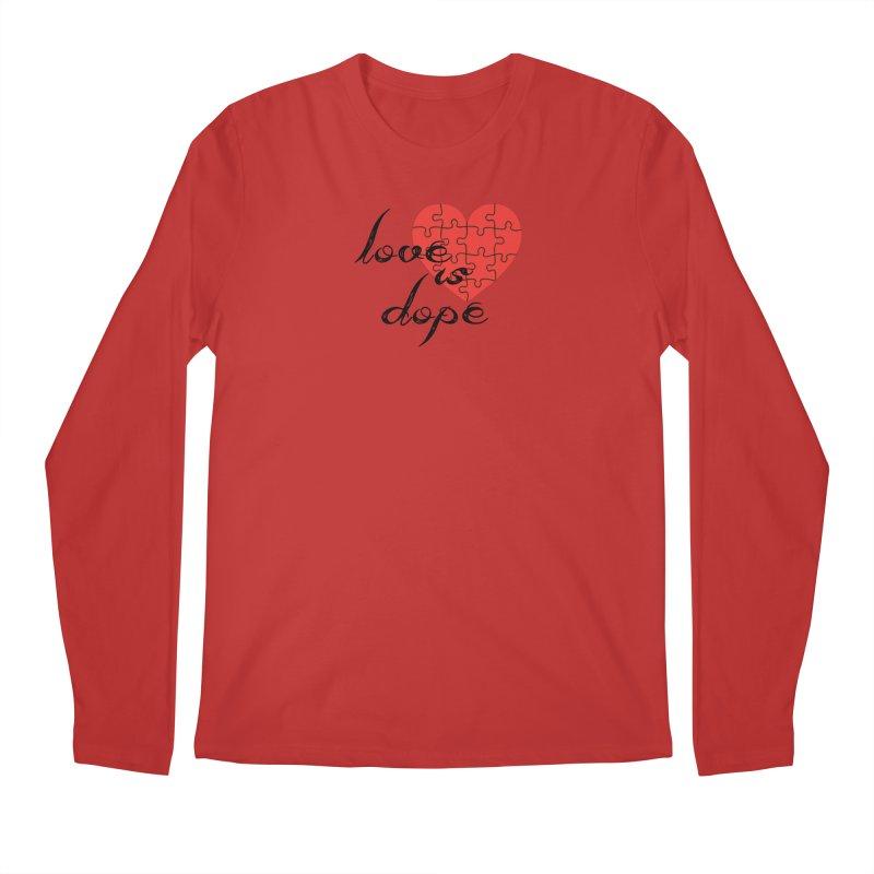 love is dope (wht/blk/red) Men's Regular Longsleeve T-Shirt by summer seventy six