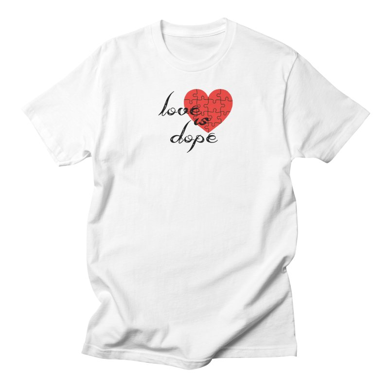 love is dope (wht/blk/red) Men's Regular T-Shirt by summer seventy six