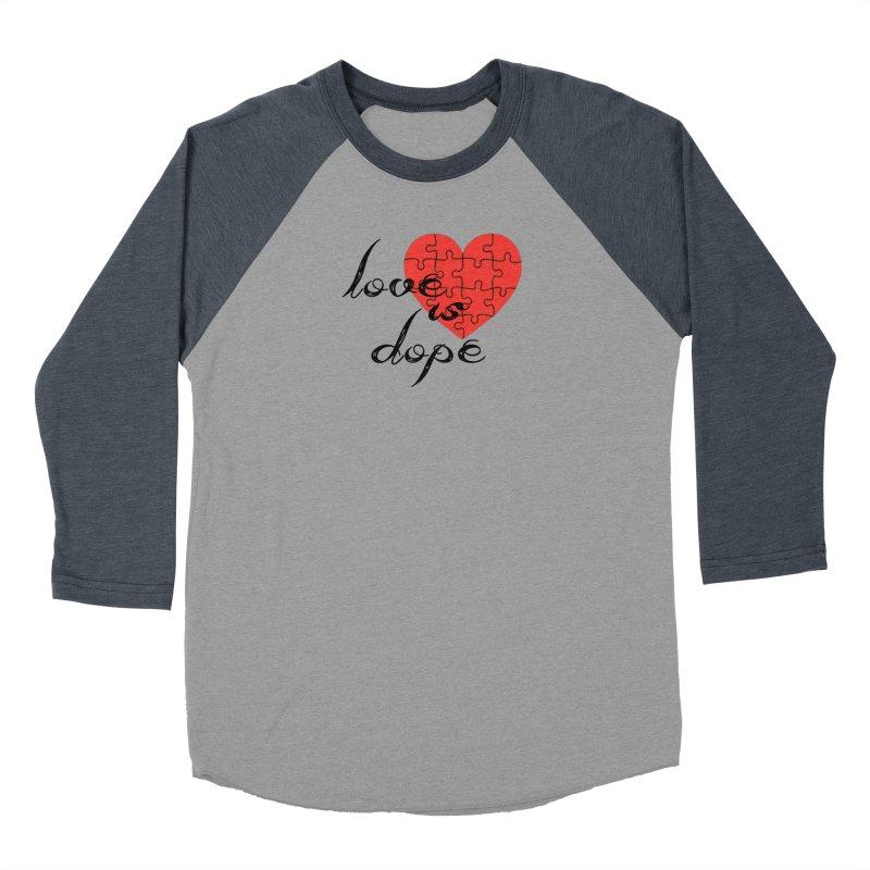 love is dope (wht/blk/red) Women's Baseball Triblend Longsleeve T-Shirt by summer seventy six