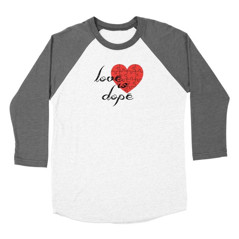 love is dope (wht/blk/red) Men's Baseball Triblend Longsleeve T-Shirt by summer seventy six
