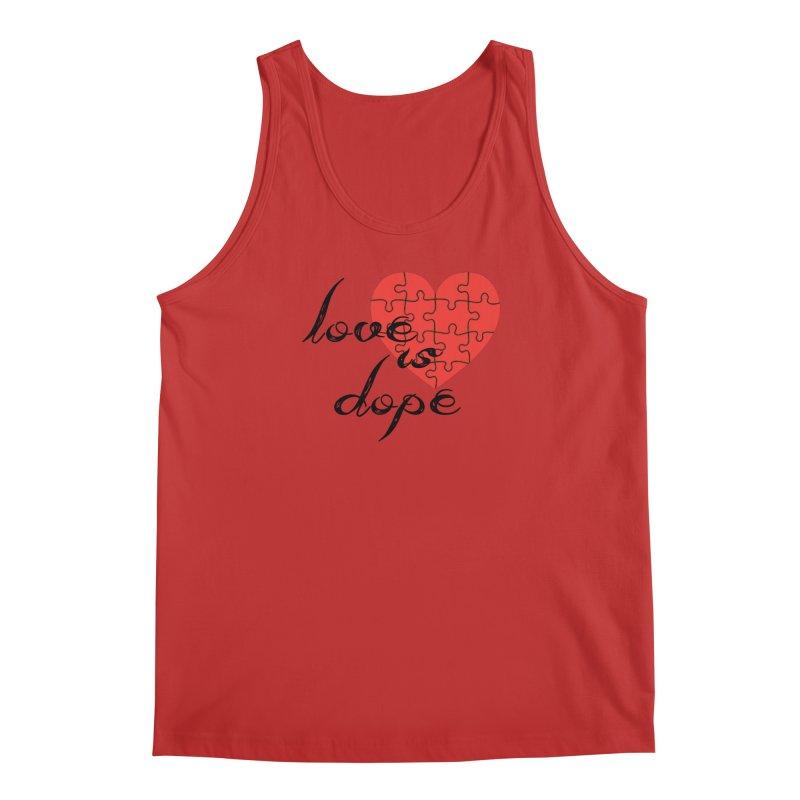 love is dope (wht/blk/red) Men's Regular Tank by summer seventy six