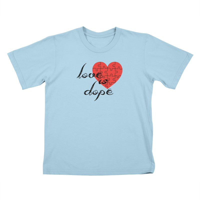 love is dope (wht/blk/red) Kids T-Shirt by summer seventy six