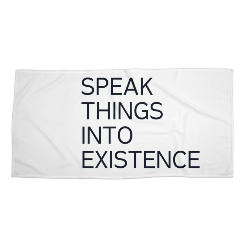 speak things Accessories Beach Towel by summer seventy six
