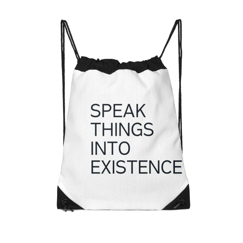 speak things Accessories Drawstring Bag Bag by summer seventy six