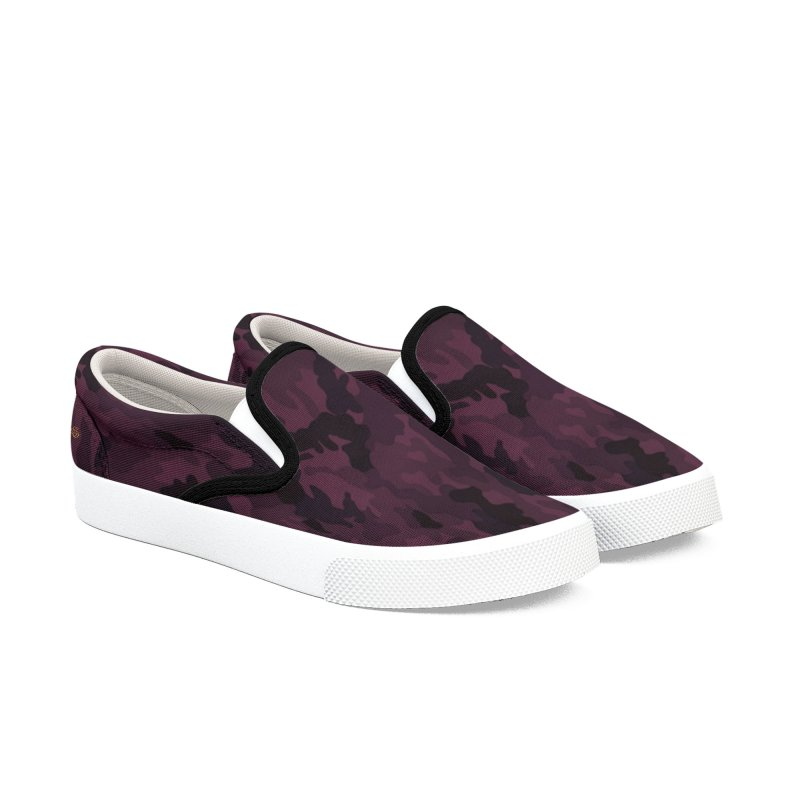camo purple Women's Slip-On Shoes by summer seventy six