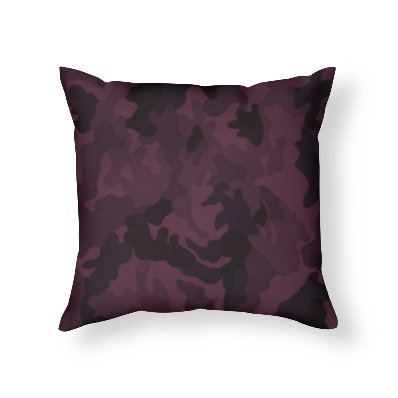 camo purple Home Throw Pillow by summer seventy six