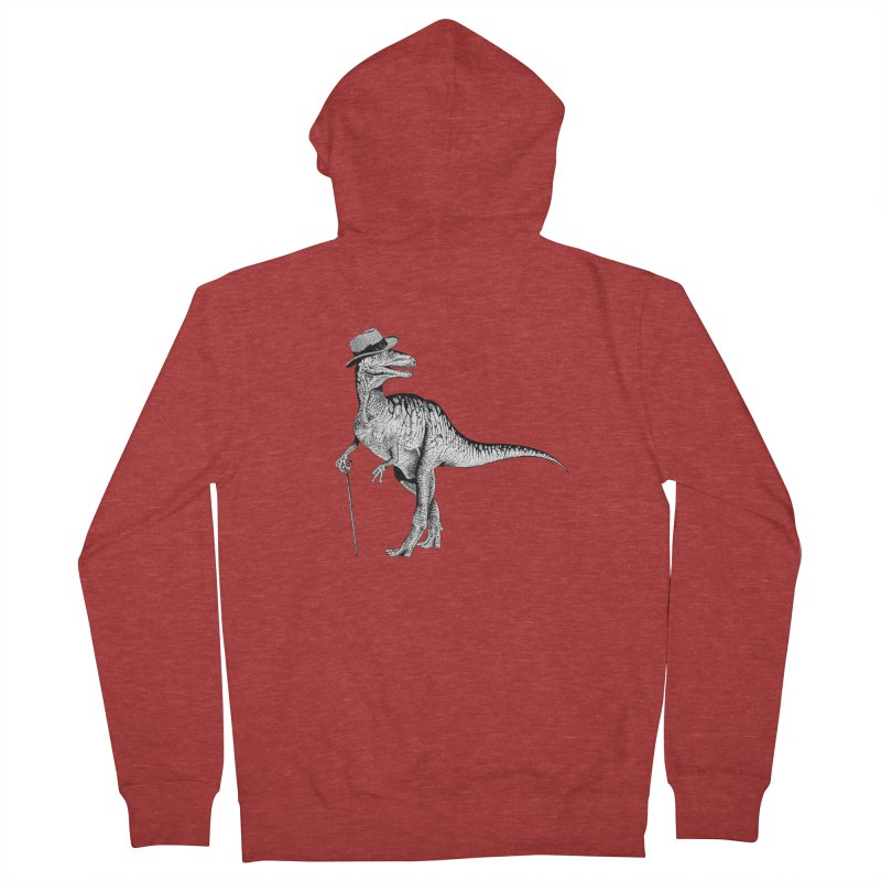 Stylin' T Rex Women's Zip-Up Hoody by sundaydrivedesigns's Artist Shop