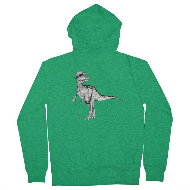 Stylin' T Rex Men's Zip-Up Hoody by sundaydrivedesigns's Artist Shop
