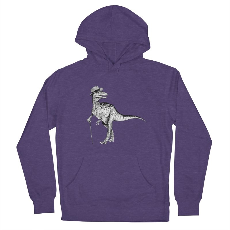 Stylin' T Rex Women's French Terry Pullover Hoody by sundaydrivedesigns's Artist Shop