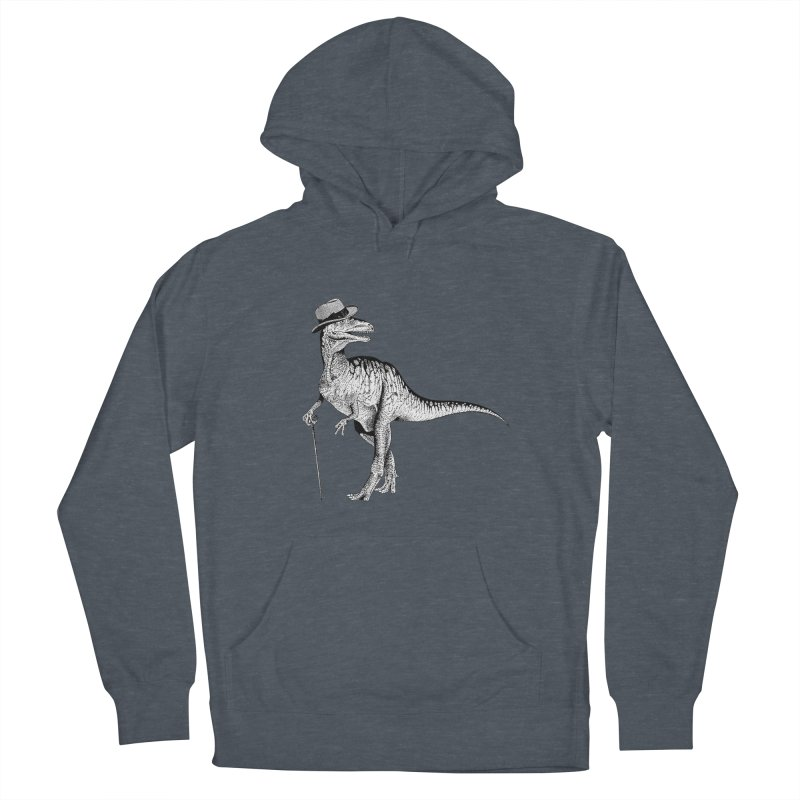 Stylin' T Rex Men's French Terry Pullover Hoody by sundaydrivedesigns's Artist Shop