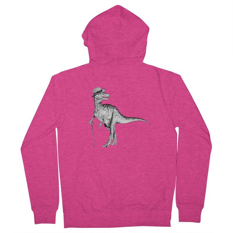 Stylin' T Rex Women's Zip-Up Hoody by sundaydrivedesigns's Artist Shop