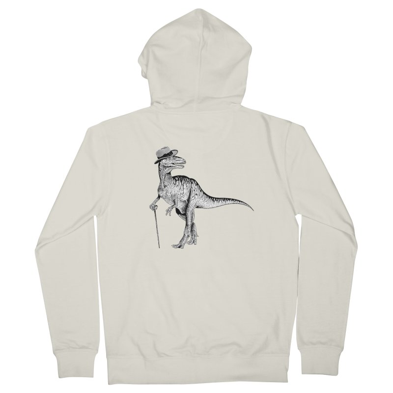 Stylin' T Rex Men's French Terry Zip-Up Hoody by sundaydrivedesigns's Artist Shop
