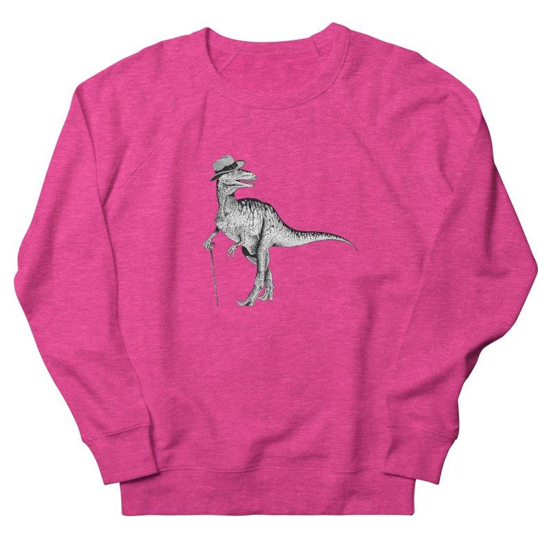 Stylin' T Rex Women's French Terry Sweatshirt by sundaydrivedesigns's Artist Shop