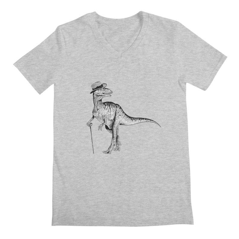 Stylin' T Rex Men's Regular V-Neck by sundaydrivedesigns's Artist Shop