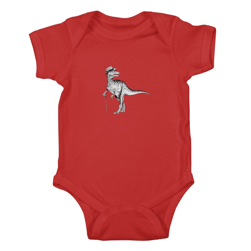 Stylin' T Rex Kids Baby Bodysuit by sundaydrivedesigns's Artist Shop