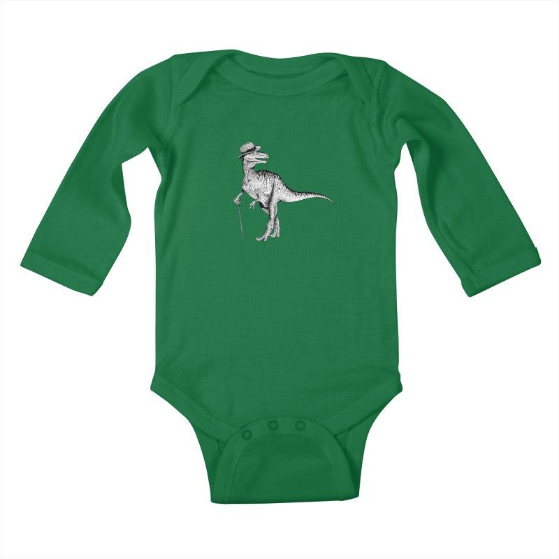Stylin' T Rex Kids Baby Longsleeve Bodysuit by sundaydrivedesigns's Artist Shop