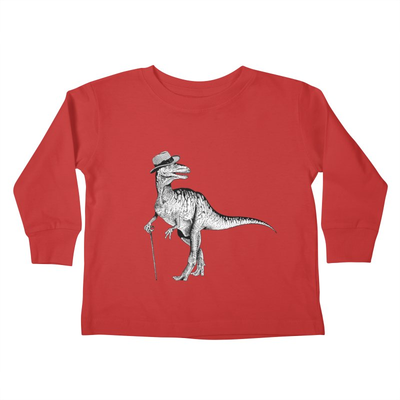 Stylin' T Rex Kids Toddler Longsleeve T-Shirt by sundaydrivedesigns's Artist Shop