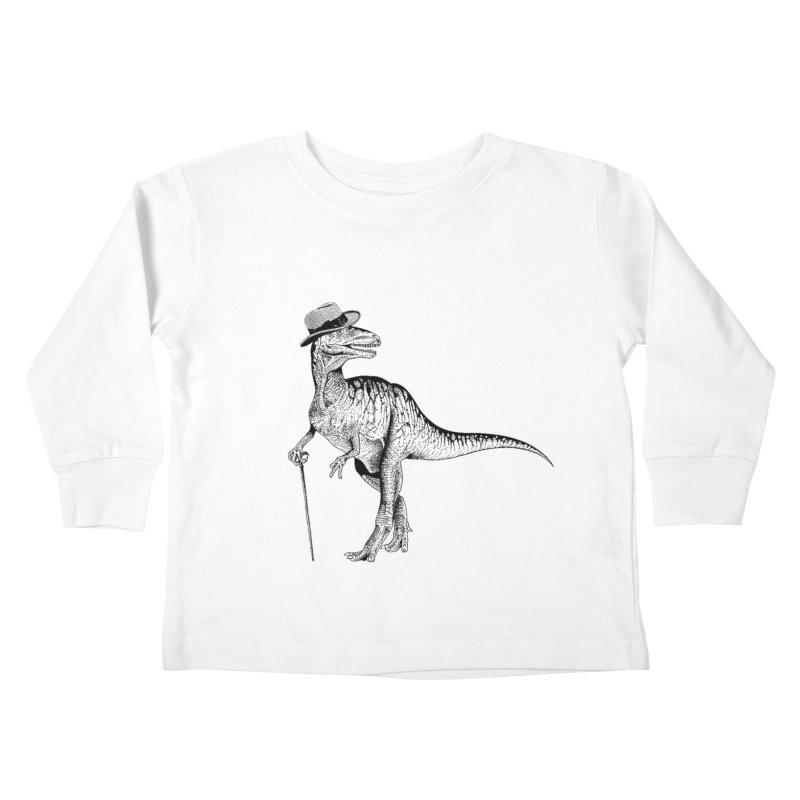 Stylin' T Rex Kids Toddler Longsleeve T-Shirt by sundaydrivedesigns's Artist Shop