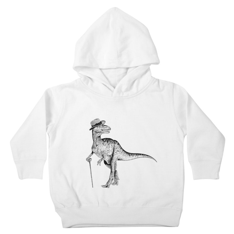 Stylin' T Rex Kids Toddler Pullover Hoody by sundaydrivedesigns's Artist Shop