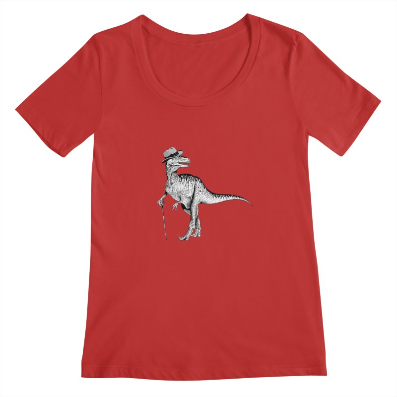Stylin' T Rex Women's Regular Scoop Neck by sundaydrivedesigns's Artist Shop