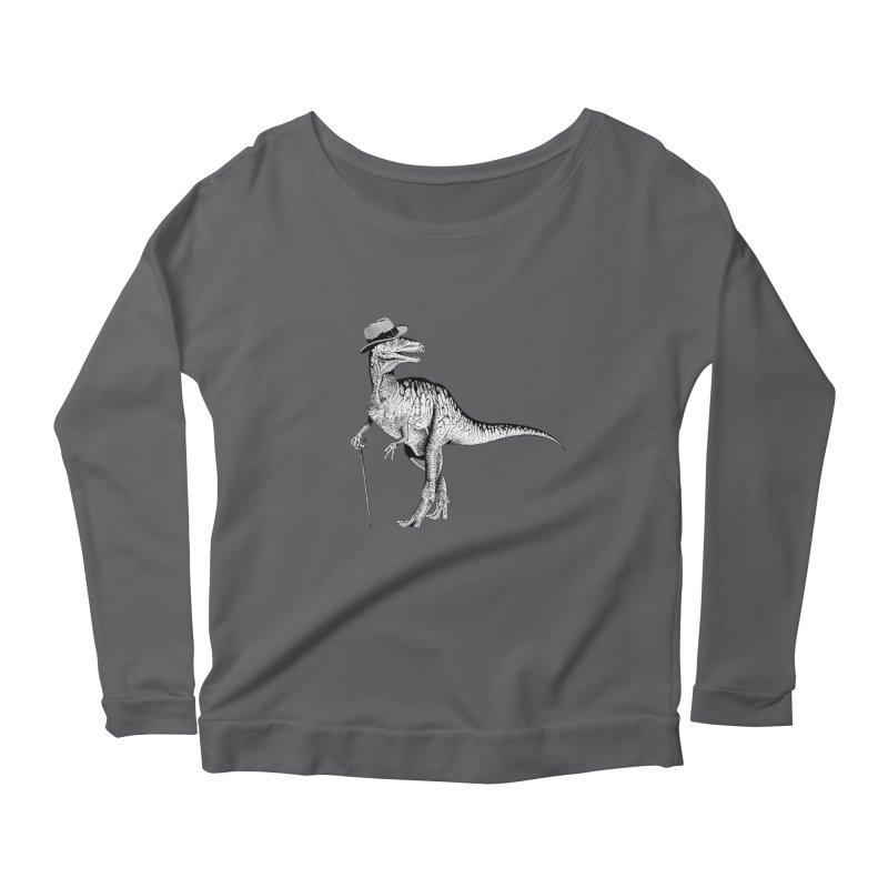 Stylin' T Rex Women's Scoop Neck Longsleeve T-Shirt by sundaydrivedesigns's Artist Shop