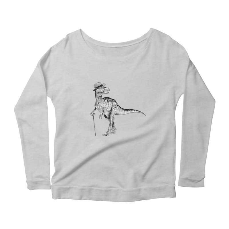 Stylin' T Rex Women's Longsleeve Scoopneck  by sundaydrivedesigns's Artist Shop