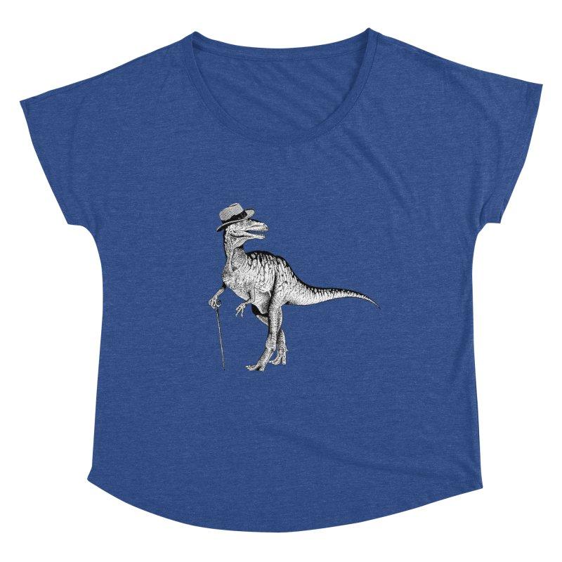 Stylin' T Rex Women's Dolman Scoop Neck by sundaydrivedesigns's Artist Shop