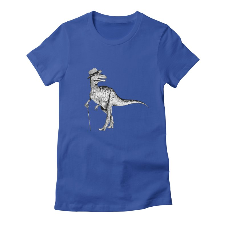 Stylin' T Rex Women's Fitted T-Shirt by sundaydrivedesigns's Artist Shop