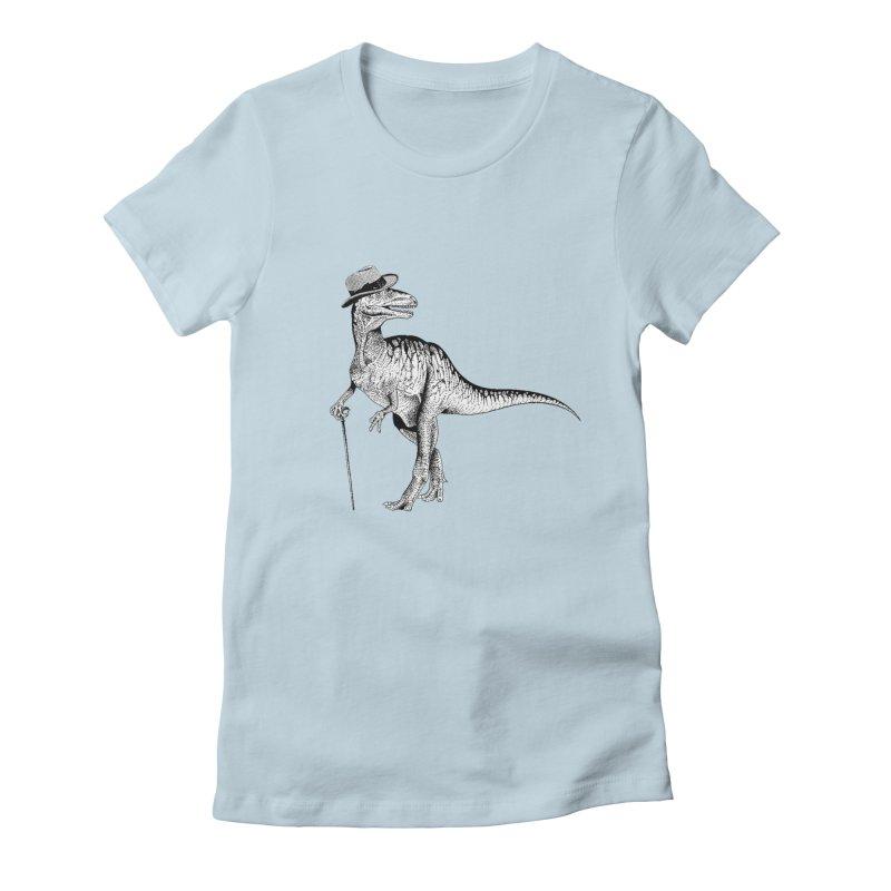 Stylin' T Rex Women's Fitted T-Shirt by sundaydrivedesigns's Artist Shop