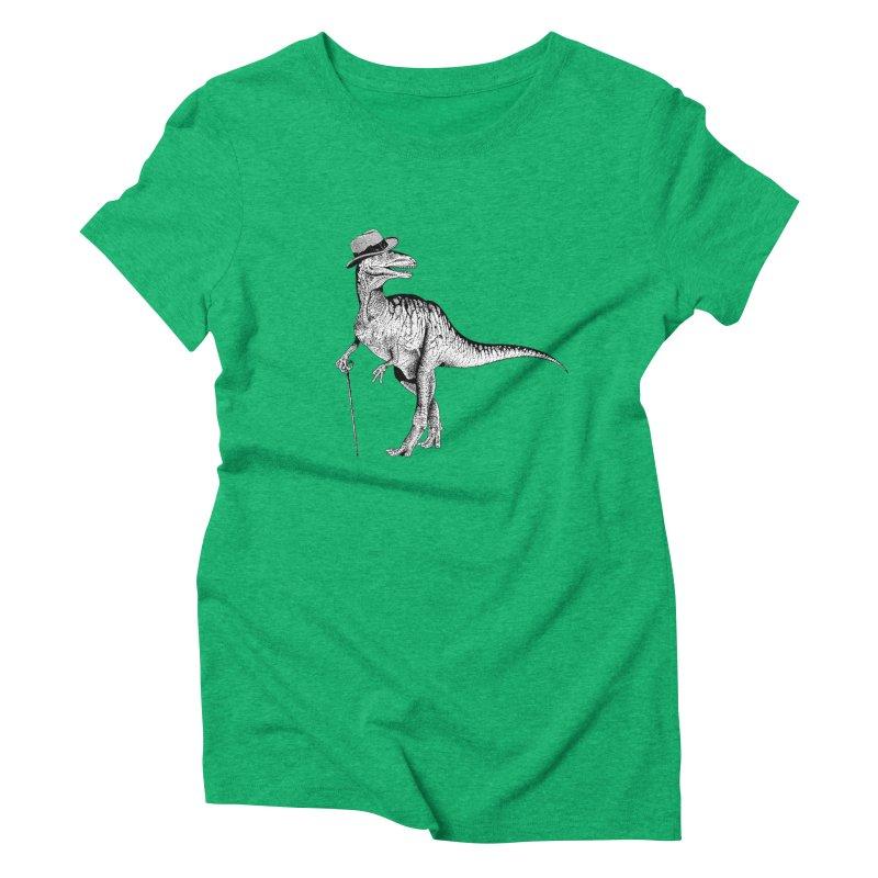 Stylin' T Rex Women's Triblend T-Shirt by sundaydrivedesigns's Artist Shop