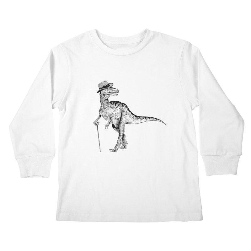 Stylin' T Rex Kids Longsleeve T-Shirt by sundaydrivedesigns's Artist Shop