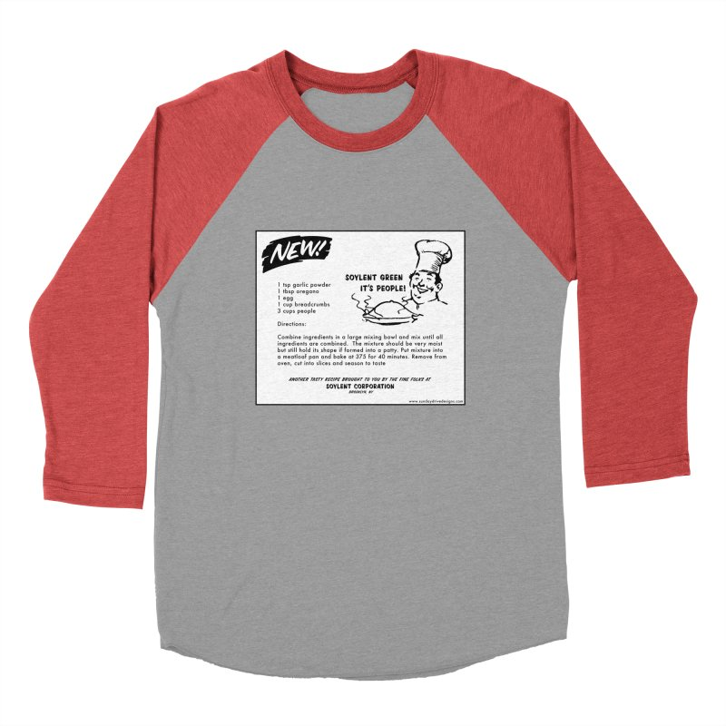 Soylent Green - It's People!  - The Recipe Women's Baseball Triblend Longsleeve T-Shirt by sundaydrivedesigns's Artist Shop