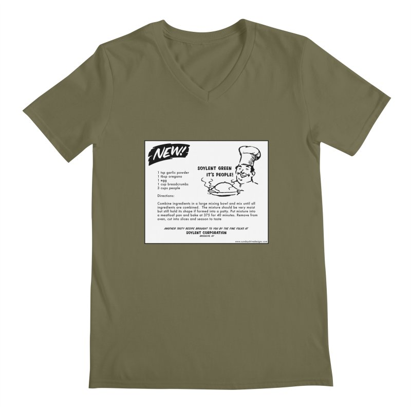 Soylent Green - It's People!  - The Recipe Men's Regular V-Neck by sundaydrivedesigns's Artist Shop