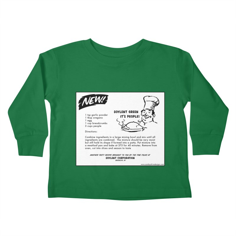 Soylent Green - It's People!  - The Recipe Kids Toddler Longsleeve T-Shirt by sundaydrivedesigns's Artist Shop