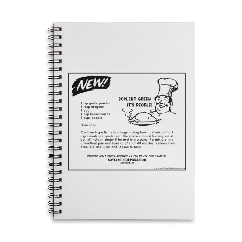 Soylent Green - It's People!  - The Recipe Accessories Lined Spiral Notebook by sundaydrivedesigns's Artist Shop