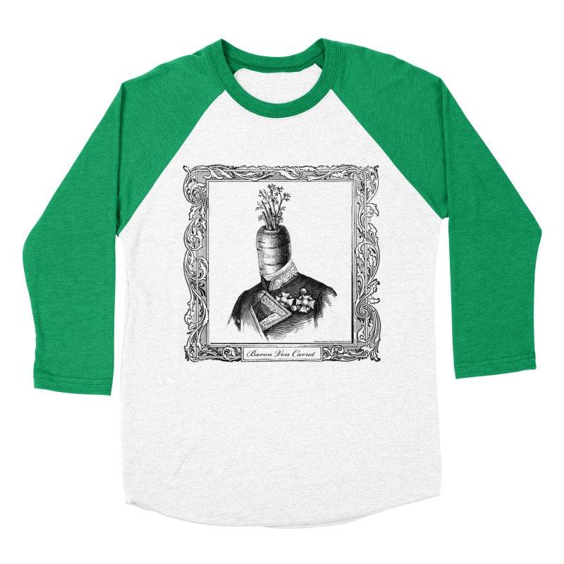 Baron Von Carrot Men's Baseball Triblend Longsleeve T-Shirt by sundaydrivedesigns's Artist Shop