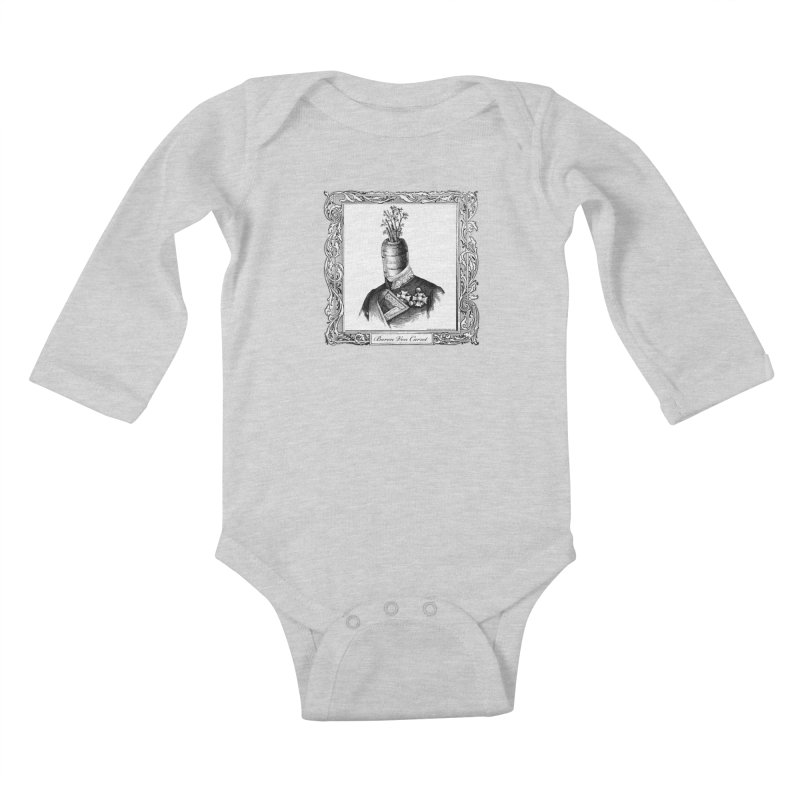 Baron Von Carrot Kids Baby Longsleeve Bodysuit by sundaydrivedesigns's Artist Shop