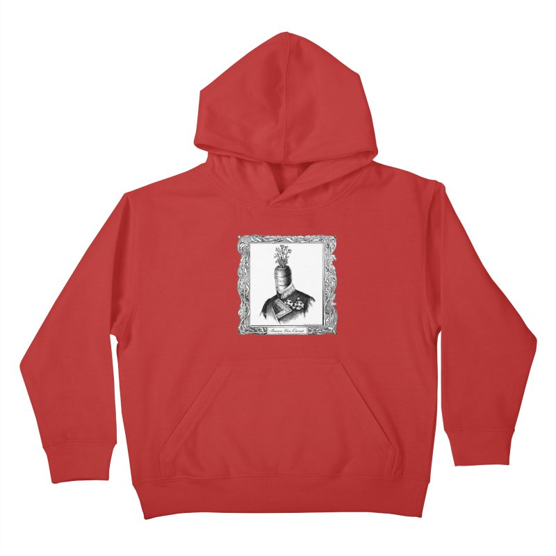 Baron Von Carrot Kids Pullover Hoody by sundaydrivedesigns's Artist Shop
